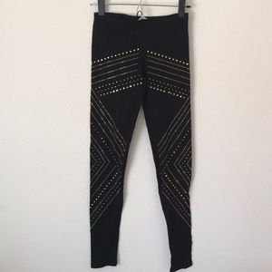 KToo gold stud leggings